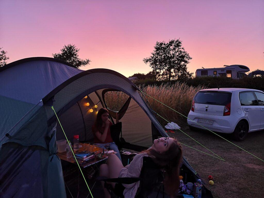 Camping med telt ved Fyns Hoved